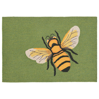 Liora Manne Frontporch Bee Hand Tufted Rectangular Rugs
