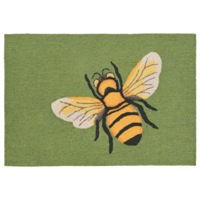 Liora Manne Frontporch Bee Hand Tufted Rectangular Rugs