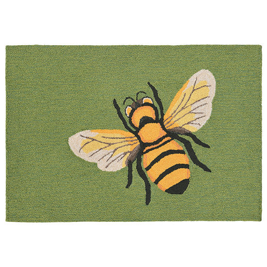 Liora Manne Frontporch Bee Hand Tufted Rectangular Indoor/Outdoor Rugs