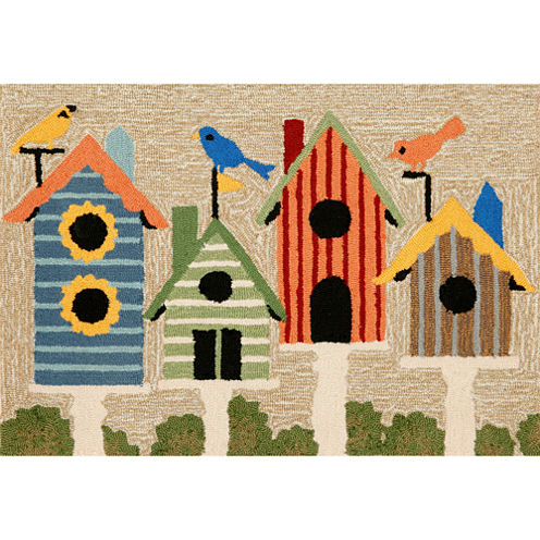 Liora Manne Frontporch Birdhouses Hand Tufted Rectangular Rugs