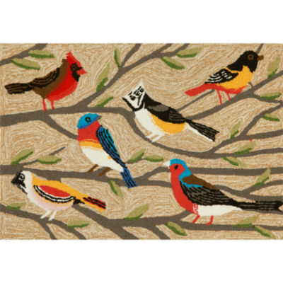 Liora Manne Frontporch Birds Hand Tufted Rectangular Rugs