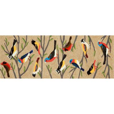 Liora Manne Frontporch Birds Hand Tufted Rectangular Runner