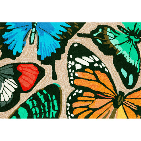 Liora Manne Frontporch Butterfly Dance Hand Tufted Rectangular Rugs