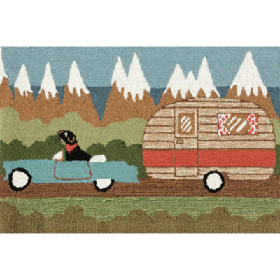 Liora Manne Frontporch Camping Dog Hand Tufted Rectangular Rugs