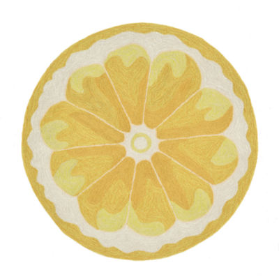 Liora Manne Frontporch Lemon Slice Hand Tufted Rectangular Rugs