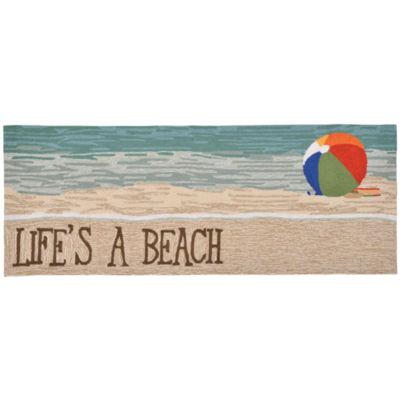 Liora Manne Frontporch Life'S A Beach Hand Tufted Rectangular Runner