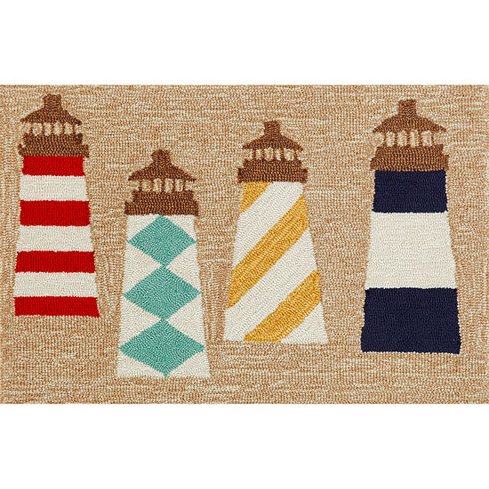 Liora Manne Frontporch Lighthouses Hand Tufted Rectangular Indoor/Outdoor Rugs