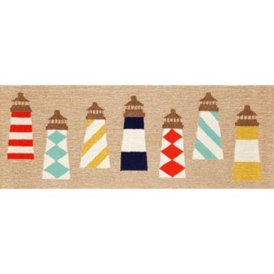 Liora Manne Frontporch Lighthouses Hand Tufted Rectangular Runner
