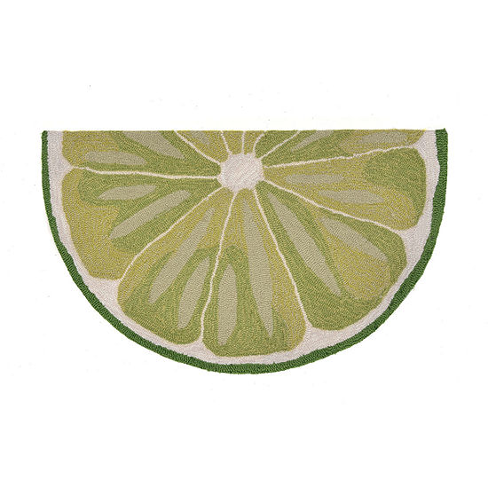 Liora Manne Frontporch Lime Slice Hand Tufted Wedge Indoor Outdoor Rugs