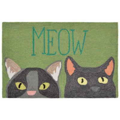 Liora Manne Frontporch Meow Hand Tufted Rectangular Rugs