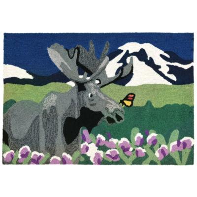 Liora Manne Frontporch Moose Hand Tufted Rectangular Rugs