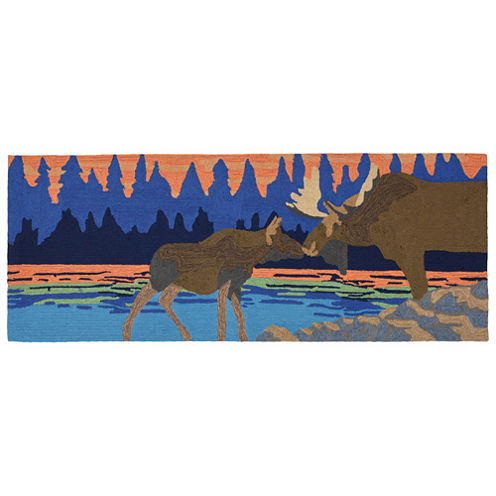 Liora Manne Frontporch Moose Kiss Hand Tufted Rectangular Runner