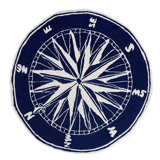 Liora Manne Frontporch Compass Hand Tufted Round Indoor/Outdoor Rugs