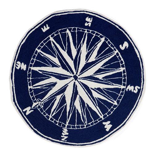 Liora Manne Frontporch Compass Hand Tufted Round Rugs
