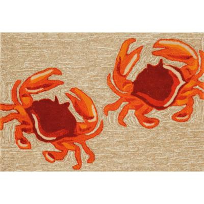Liora Manne Frontporch Crabs Hand Tufted Rectangular Indoor/Outdoor Accent Rug
