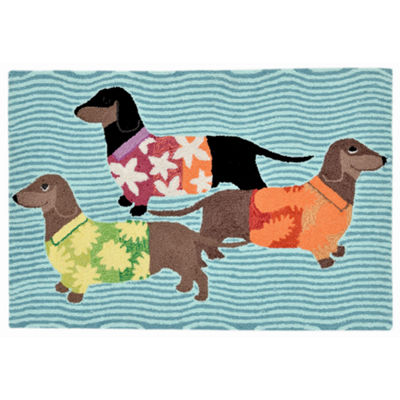 Liora Manne Frontporch Tropical Hounds Hand Tufted Rectangular Indoor/Outdoor Accent Rug