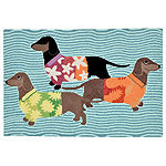 Liora Manne Frontporch Tropical Hounds Hand Tufted Rectangular Indoor/Outdoor Rugs