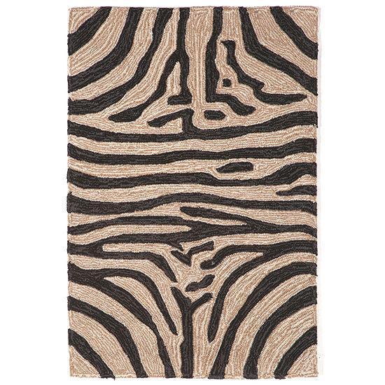 Liora Manne Ravella Zebra Hand Tufted Rectangular Indoor/Outdoor Rugs