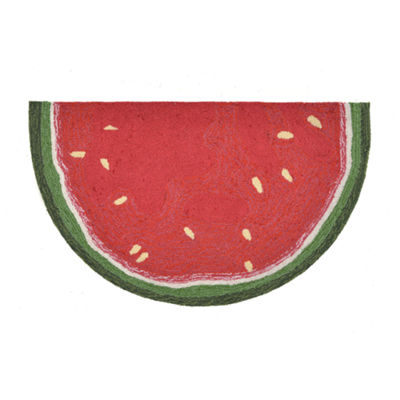 Liora Manne Frontporch Watermelon Slice Hand Tufted Wedge Rugs