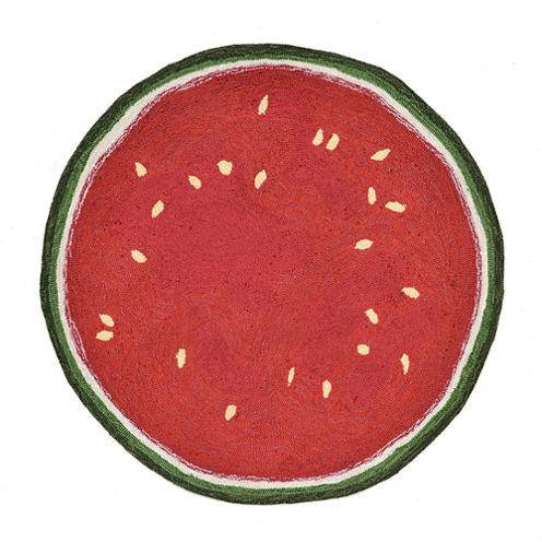 Liora Manne Frontporch Watermelon Slice Hand Tufted Rectangular Rugs