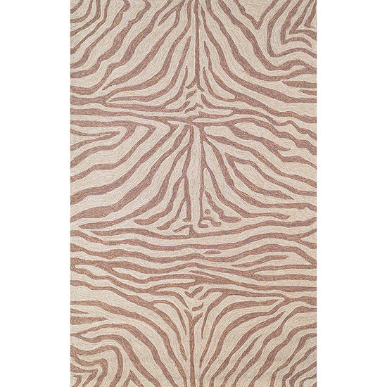 Liora Manne Ravella Zebra Hand Tufted Rectangular Indoor Outdoor Rugs
