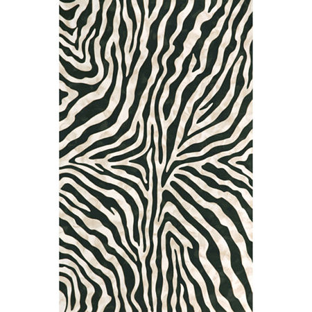 Liora Manne Visions I Zebra Rectangular Indoor/Outdoor Rugs, One Size , Black Product Image