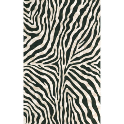 Liora Manne Visions I Zebra Rectangular Rugs