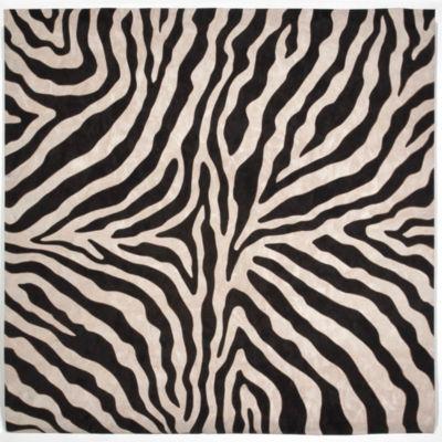 Liora Manne Visions I Zebra Square Rugs