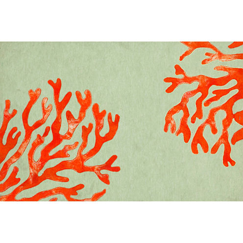 Liora Manne Visions Ii Coral Rectangular Rugs
