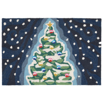 Liora Manne Frontporch Xmas Tree Hand Tufted Rectangular Rugs