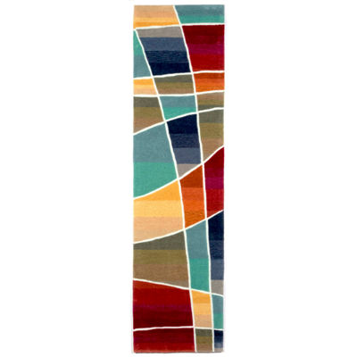 Liora Manne Amalfi Collage Hand Tufted Rectangular Indoor Runner