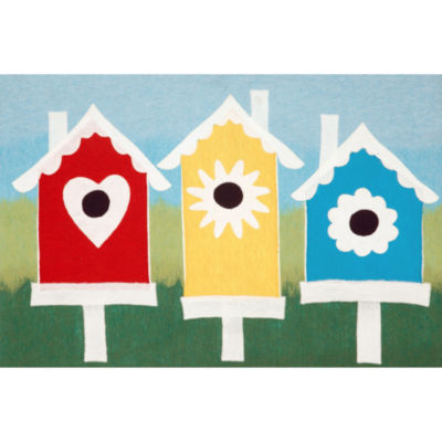 Liora Manne Visions Iii Birdhouses Rectangular Rugs