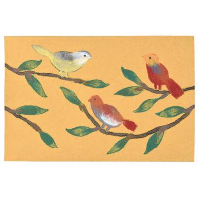 Liora Manne Visions Iii Chirp Birds Rectangular Rugs