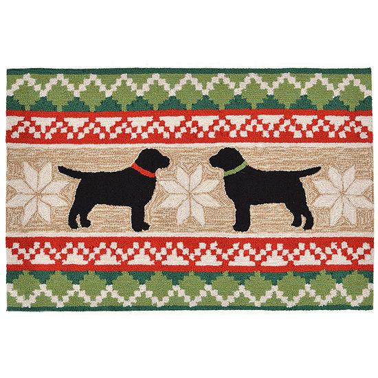 Liora Manne Frontporch Nordic Dogs Hand Tufted Rectangular Indoor/Outdoor Rugs