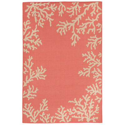 Liora Manne Terrace Coral Rectangular Rugs