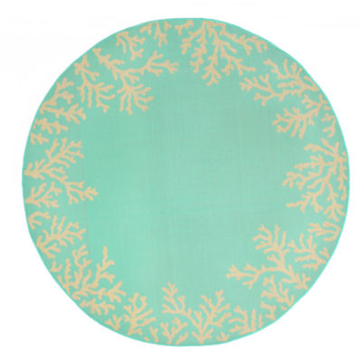 Liora Manne Terrace Coral Round Rugs