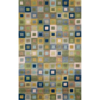 Liora Manne Amalfi Square In Square Hand Tufted Rectangular Rugs