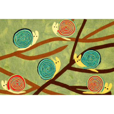 Liora Manne Visions Iii Snails Rectangular Rugs