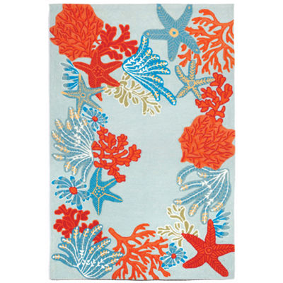 Liora Manne Ravella Ocean Scene Hand Tufted Rectangular Indoor/Outdoor Rugs