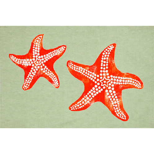 Liora Manne Visions Iii Star Fish Rectangular Rugs
