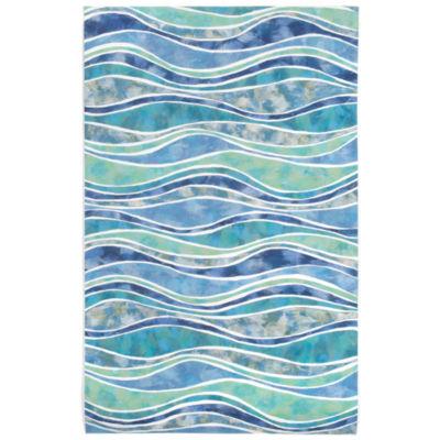 Liora Manne Visions Iii Wave Rectangular Indoor/Outdoor Rugs