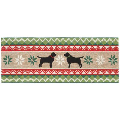 Liora Manne Frontporch Nordic Dogs Hand Tufted Rectangular Runner