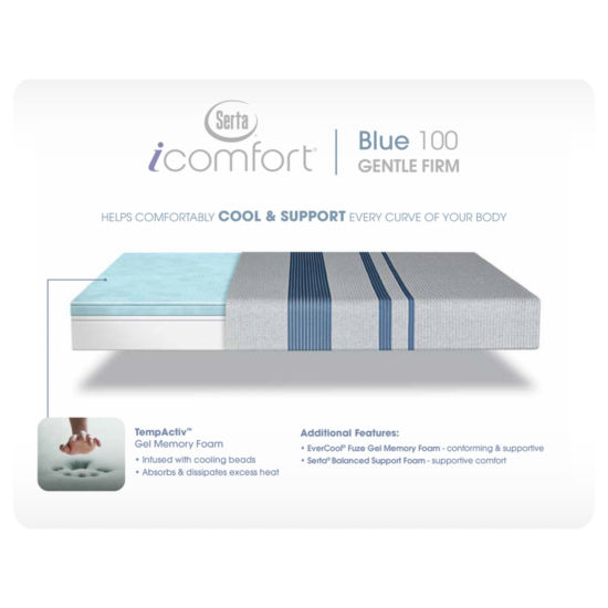 Serta® iComfort® Blue 100 Gentle Firm - Mattress Only