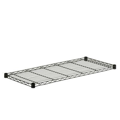 Honey-Can-Do Steel Shelf-350 Lbs Black 16X36