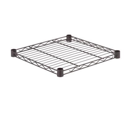 Honey-Can-Do Steel Shelf-350 Lbs Black 18X18