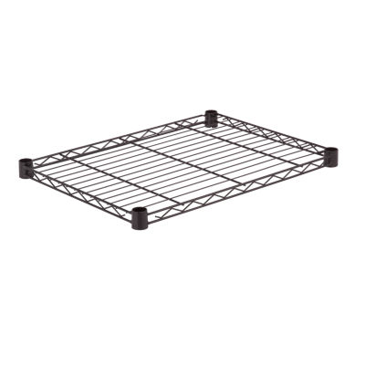 Honey-Can-Do Steel Shelf-350 Lbs Black 18X24
