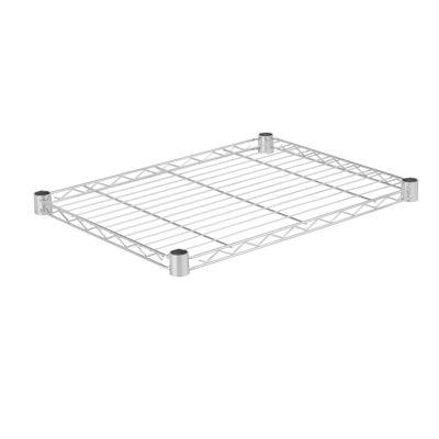 Honey-Can-Do Steel Shelf-350 Lbs Chrome 18X24