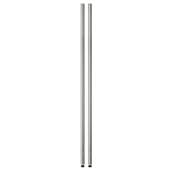 Honey-Can-Do 63In Chrome Pole With Leg Levelers  -2-Pack