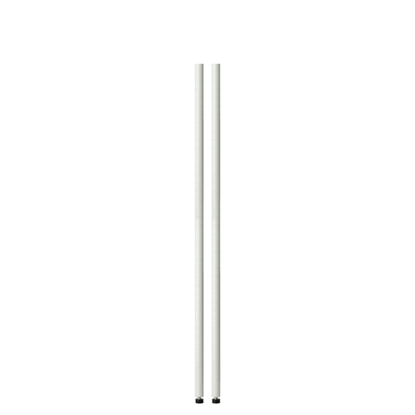 Honey-Can-Do 54In White Pole With Leg Levelers - 2-Pack