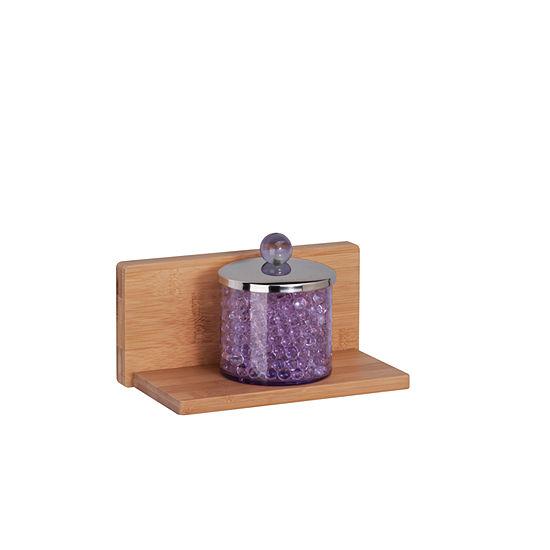 Honey-Can-Do Bamboo L Shape Wall Shelf